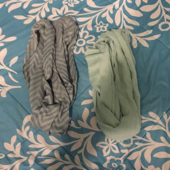 Accessories - Mint and Chevron Scarves